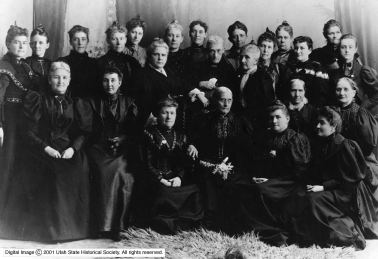 Group photo of women in the victorian era