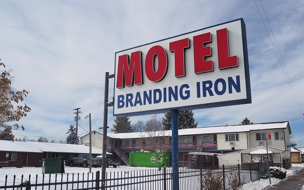 Sign for the Motel Branding Iron